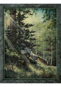 "Каменная картина ""Солнце в уголке леса"""