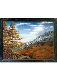 """Каменная картина """"Осень в горах"""""""