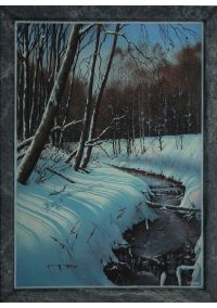 "Картина из каменной крошки ""На реке Арша"""