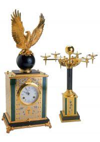 """Подарочный набор """"Часы и подсвечник"""""""